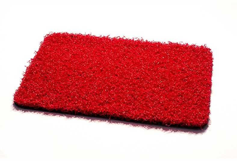 csped artificial acondicionamiento espacios rojo